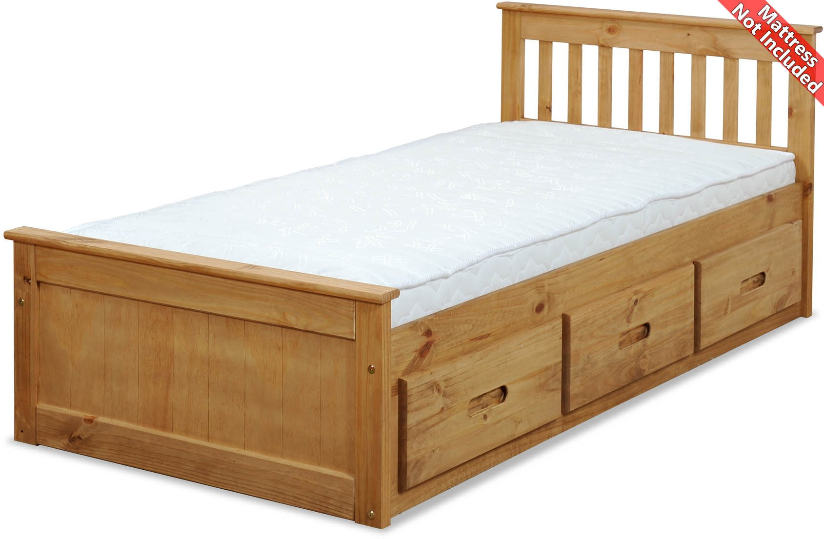 ce49bb9a4fd8 Amani Mission Small Double Bed Frame - 3 Drawers Main Image ...