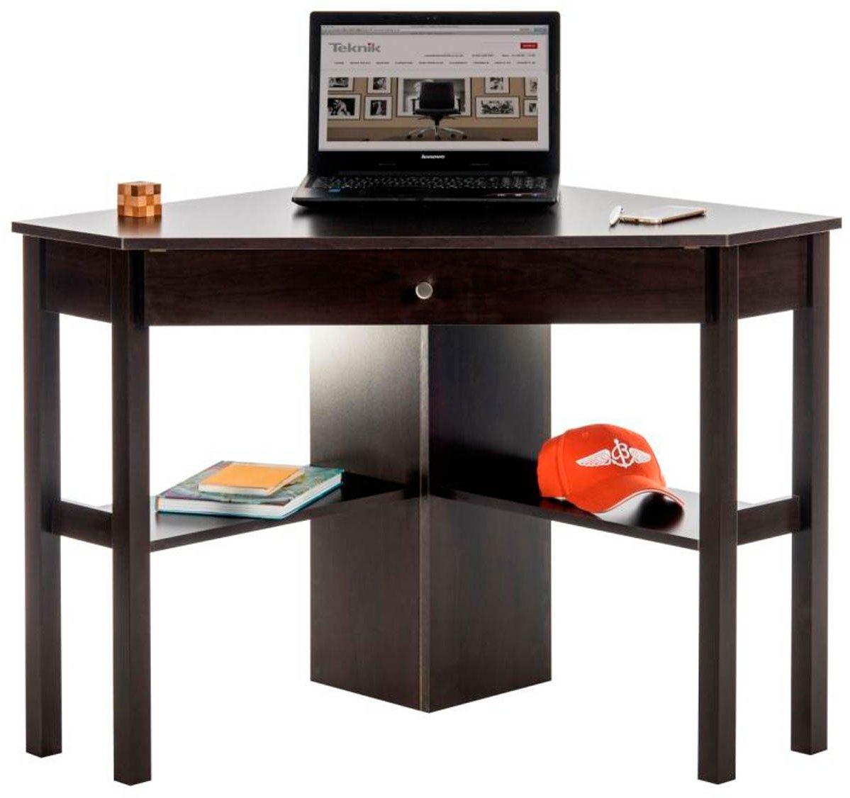 Dsk 5412314 cinnamon cherry home office corner desk - Corner desks for home ...