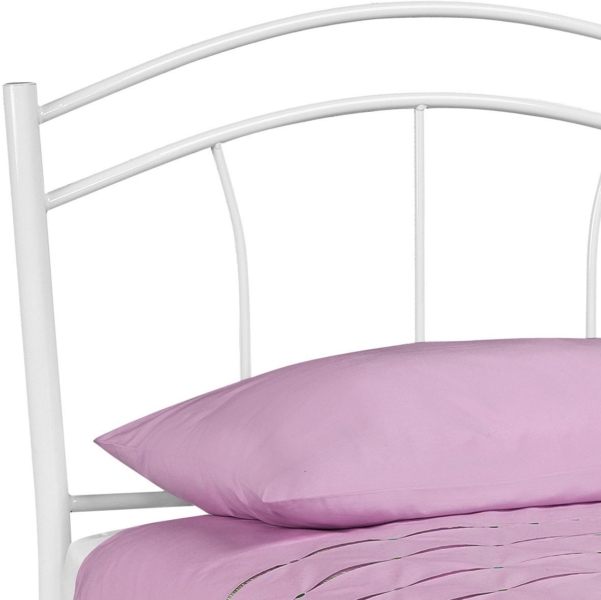 Julian Bowen Mia001 Mat010 Miah High Gloss White Bed Frame
