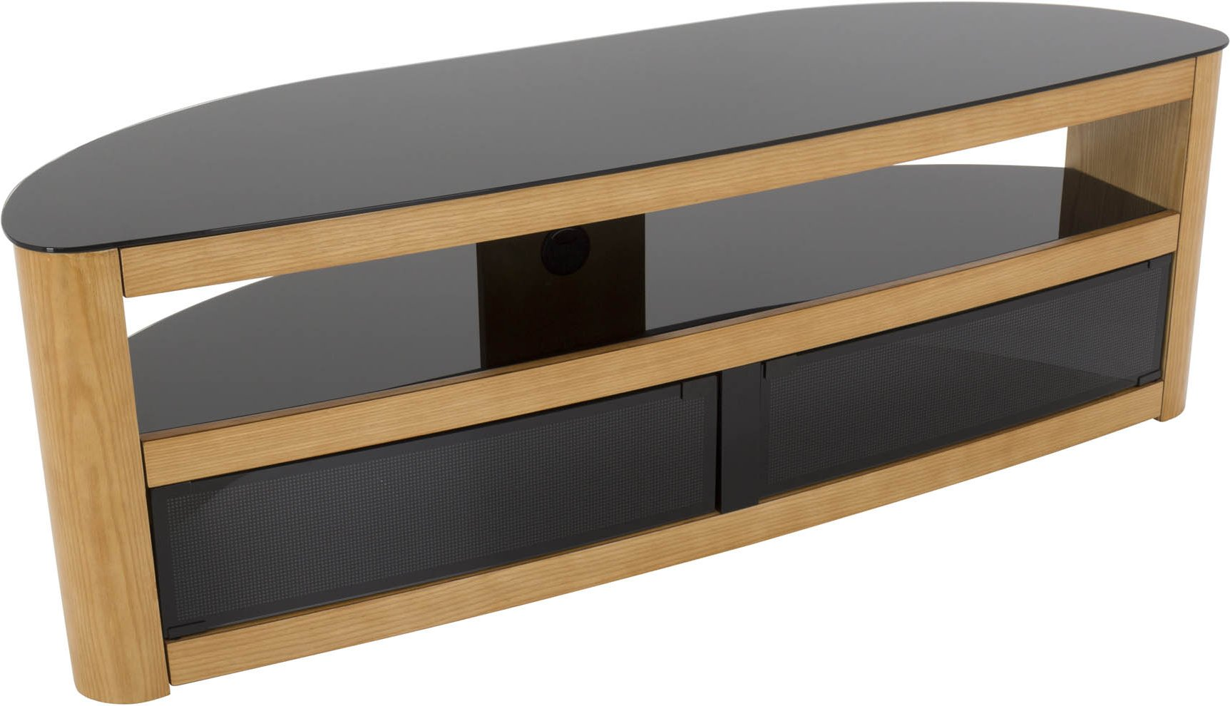 new product 60a36 6eca9 AVF Burghley FS1500BURO Oak TV Stand for up to 70 TVs