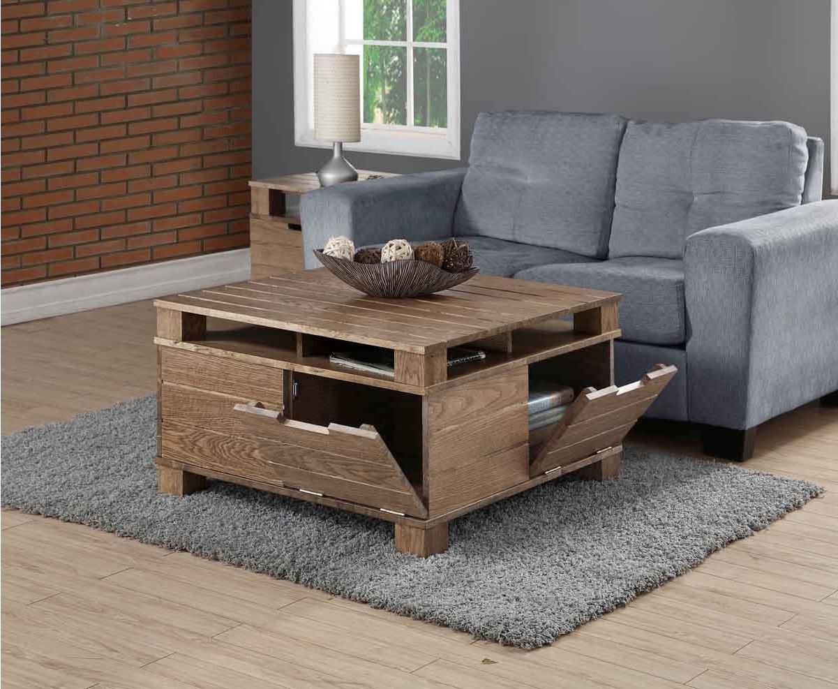 Jual Solid Wood Rustic Oak Coffee Table