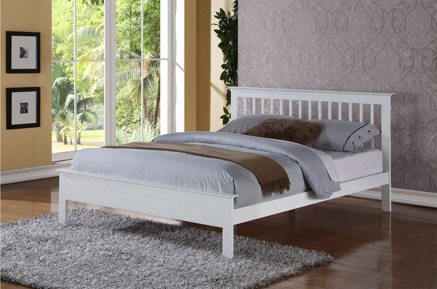 Ultimum Pentre Headboard White 6ft Pentre Super King