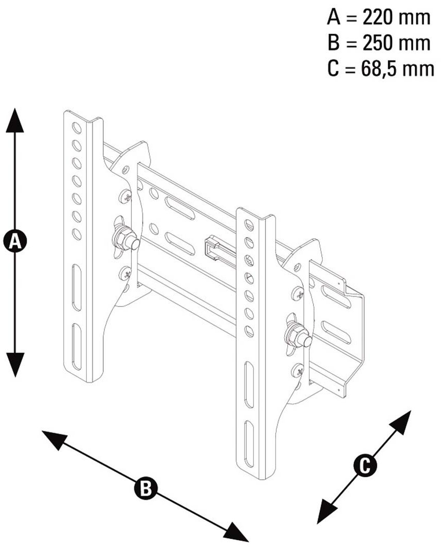 sanus tilting wall mount instructions
