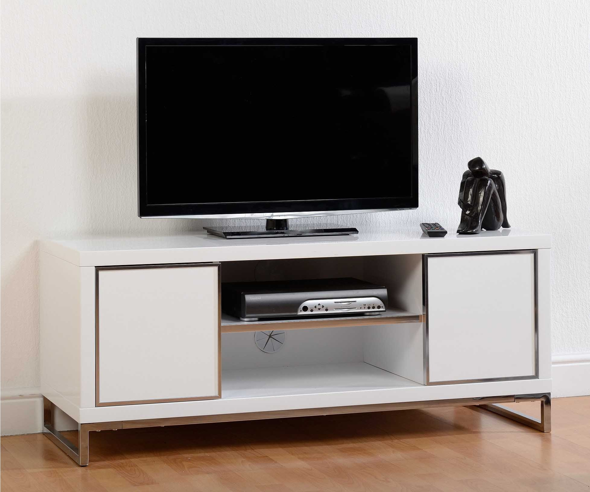 Valufurniture charisma white tv unit tv stands for White plasma tv stands