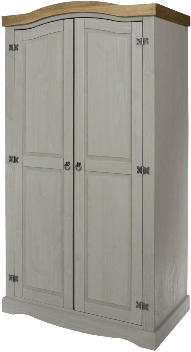low priced fe4cb 93b00 Core Products Corona Grey 2 Door Wardrobe