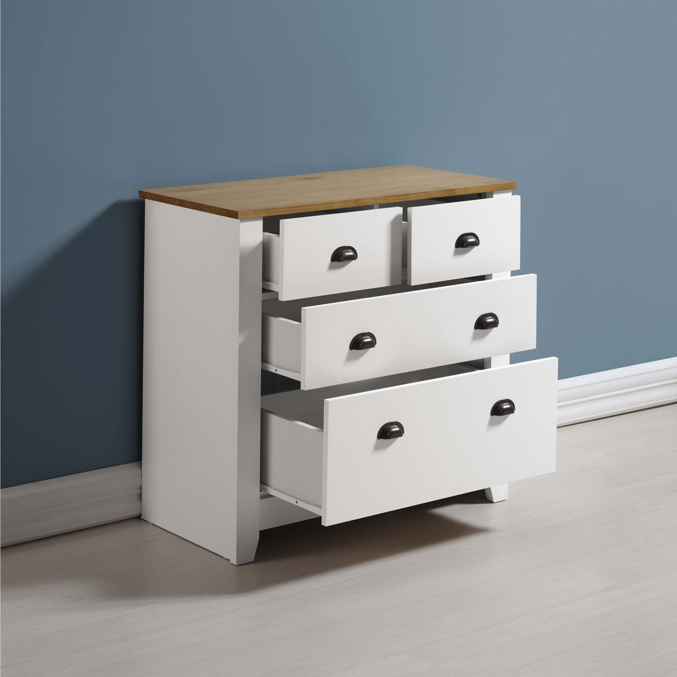 ValuFurniture Ludlow Drawer2 WO Chests of Drawers