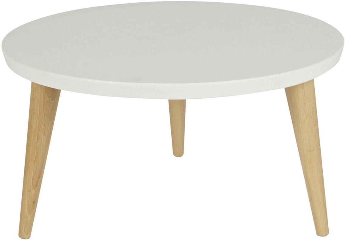 Woood elin white pine side table 50cm coffee tables for Coffee tables 50cm wide