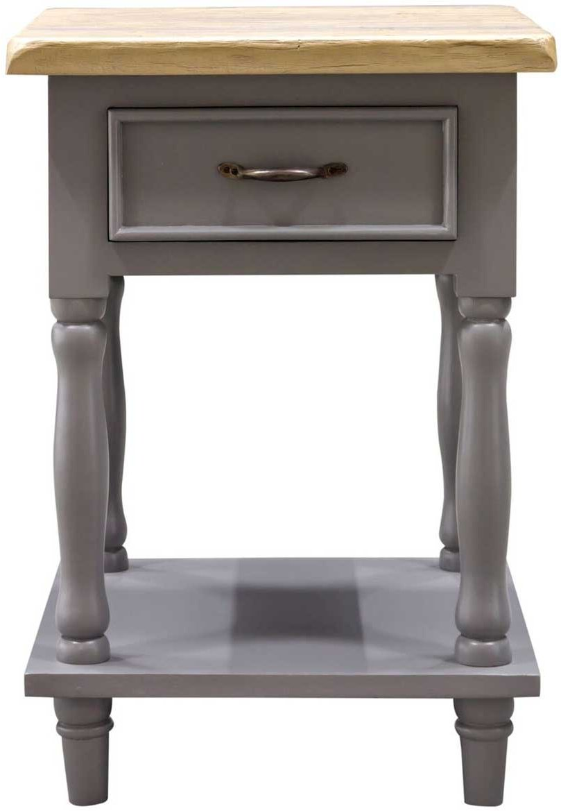 THN264F Thunder Grey Tall Side Table