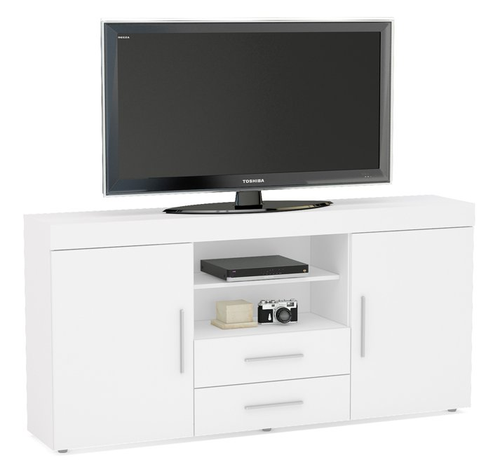 Tnw Carnaby Large High Gloss Tv Unit For Up To 65 White