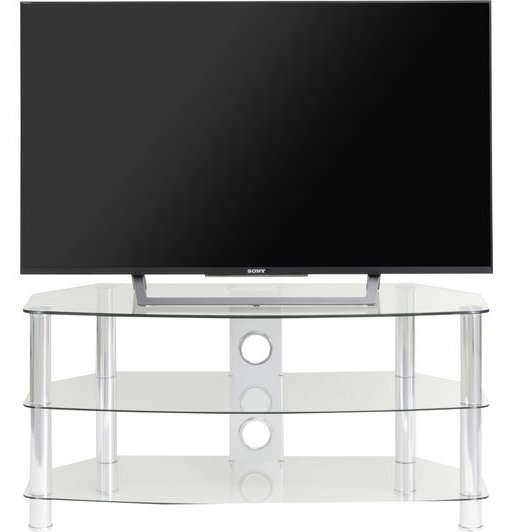 Ttap Vantage 600 Clear Curve Glass Tv Stand For Up To 26 Inch