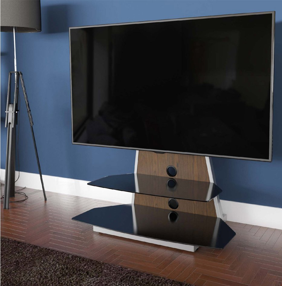 Avf Options Stkl900a Stack Tv Stand For Up To 65 Inch Tvs Walnut