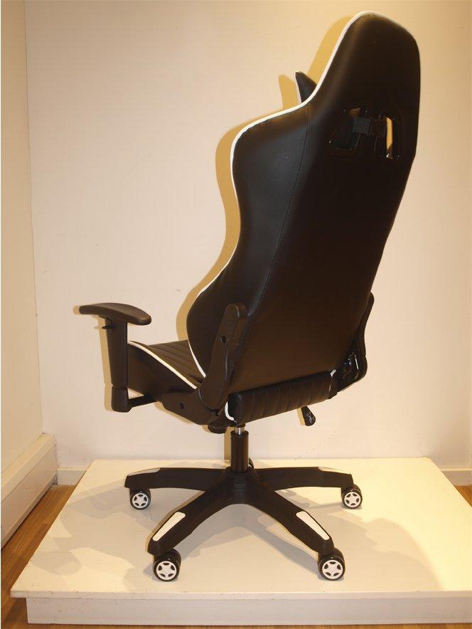 Incredible Alphason Senna Modern Gaming Chair Black White Pdpeps Interior Chair Design Pdpepsorg