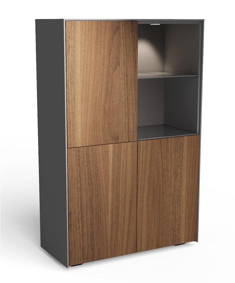 Frank Olsen Display Cabinet Matt Grey Walnut INTEL Tall