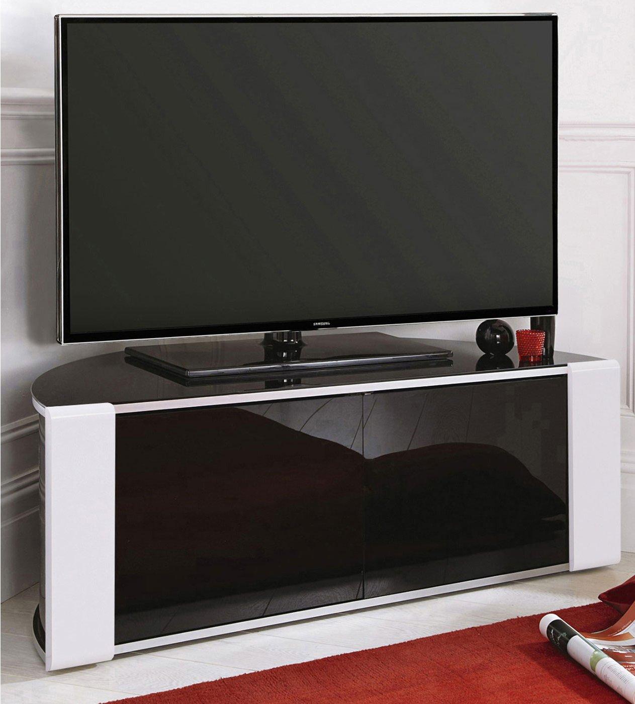hot sale online 61f53 6cafd MDA Designs Sirius 850 Black and White Corner TV Cabinet