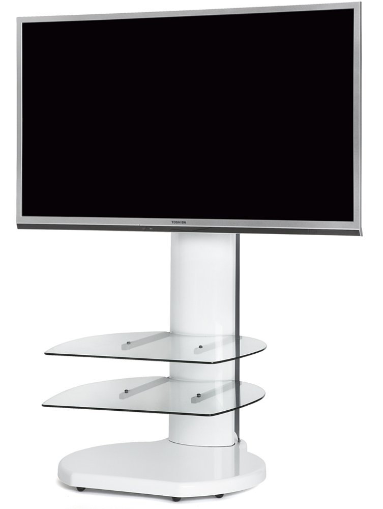Origin II S4 White Cantilever TV Stand