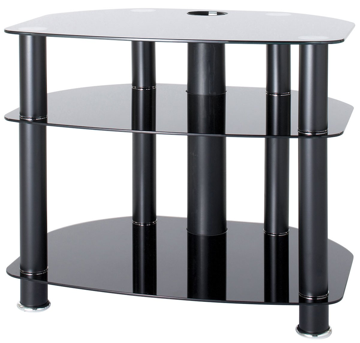alphason black glass tv stand for up to 26 tvs. Black Bedroom Furniture Sets. Home Design Ideas